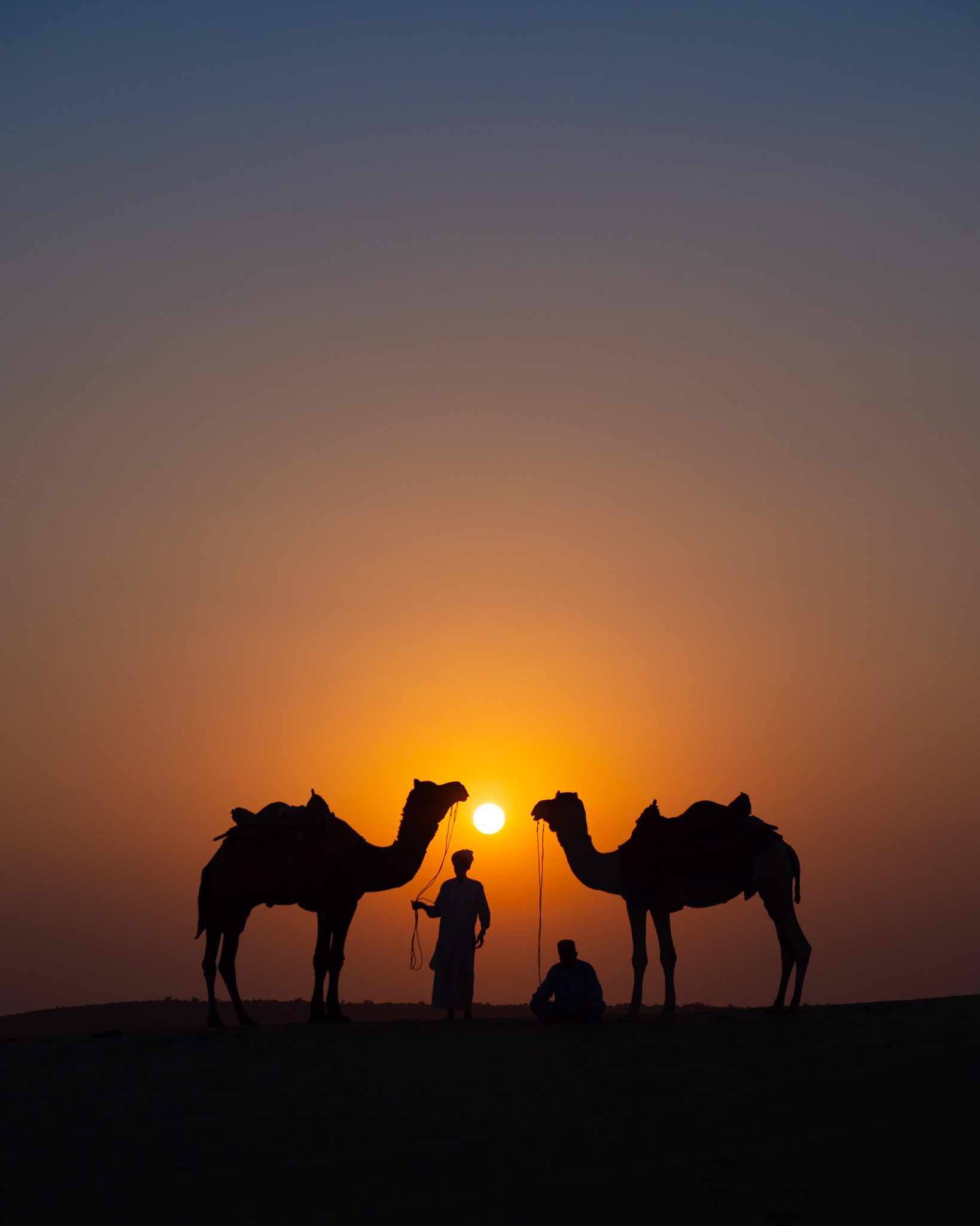 Sunset on the sand dunes in Jaisalmer — and yes, we will endeavor to create a photo like this together!