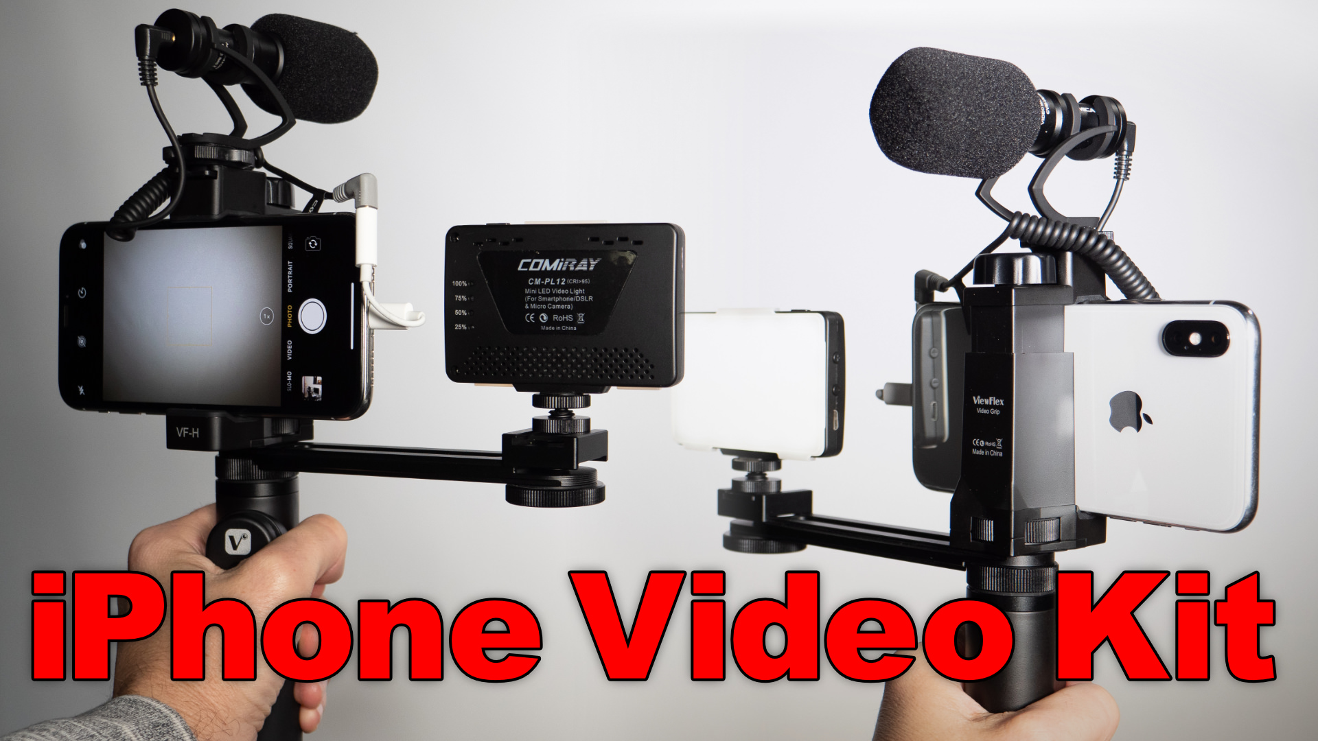 Viewflex VF-H6 ▶︎ Smartphone Video Grip w/ Microphone & Light
