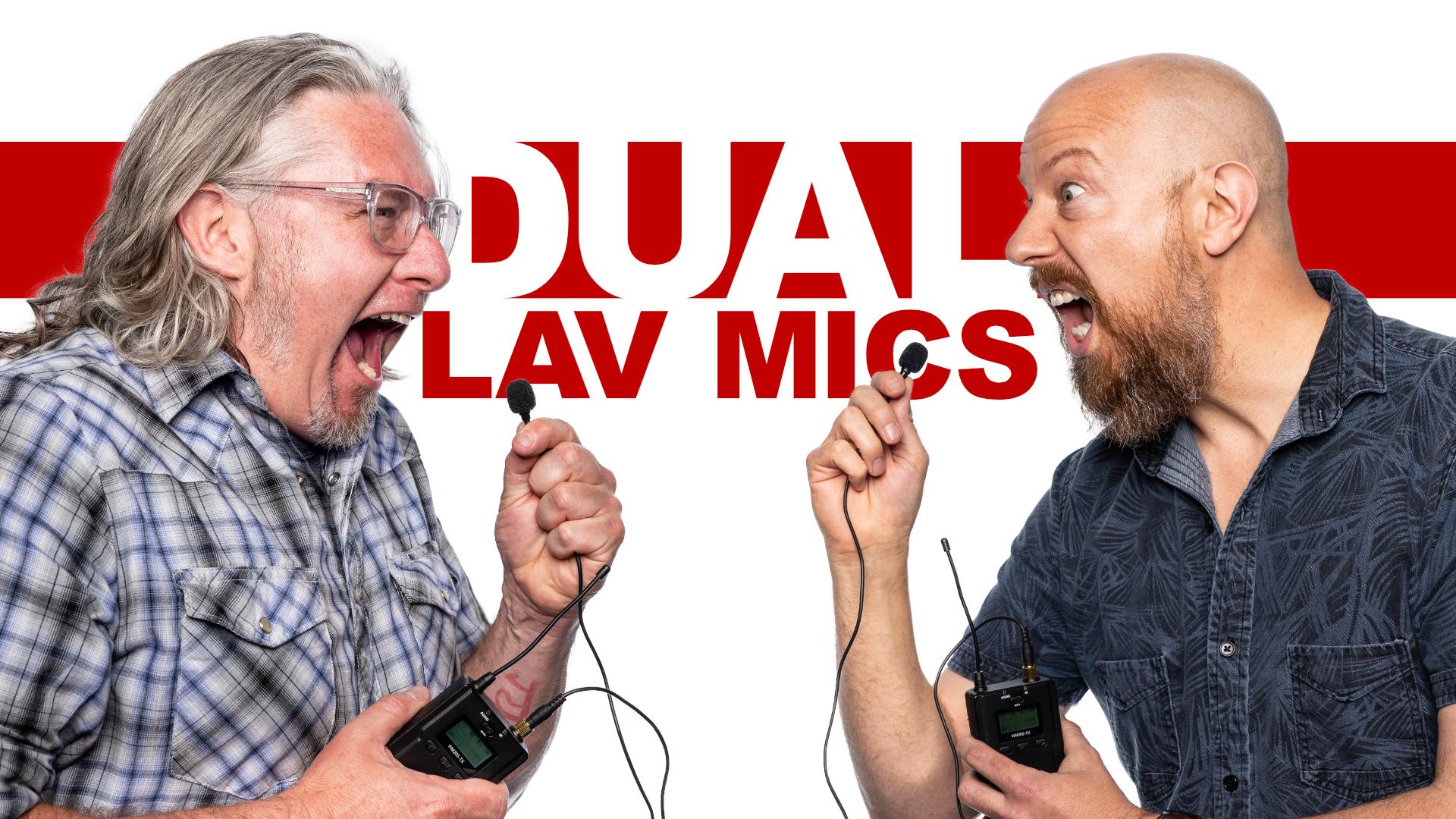 Comica DUAL Wireless Lavalier Mic System