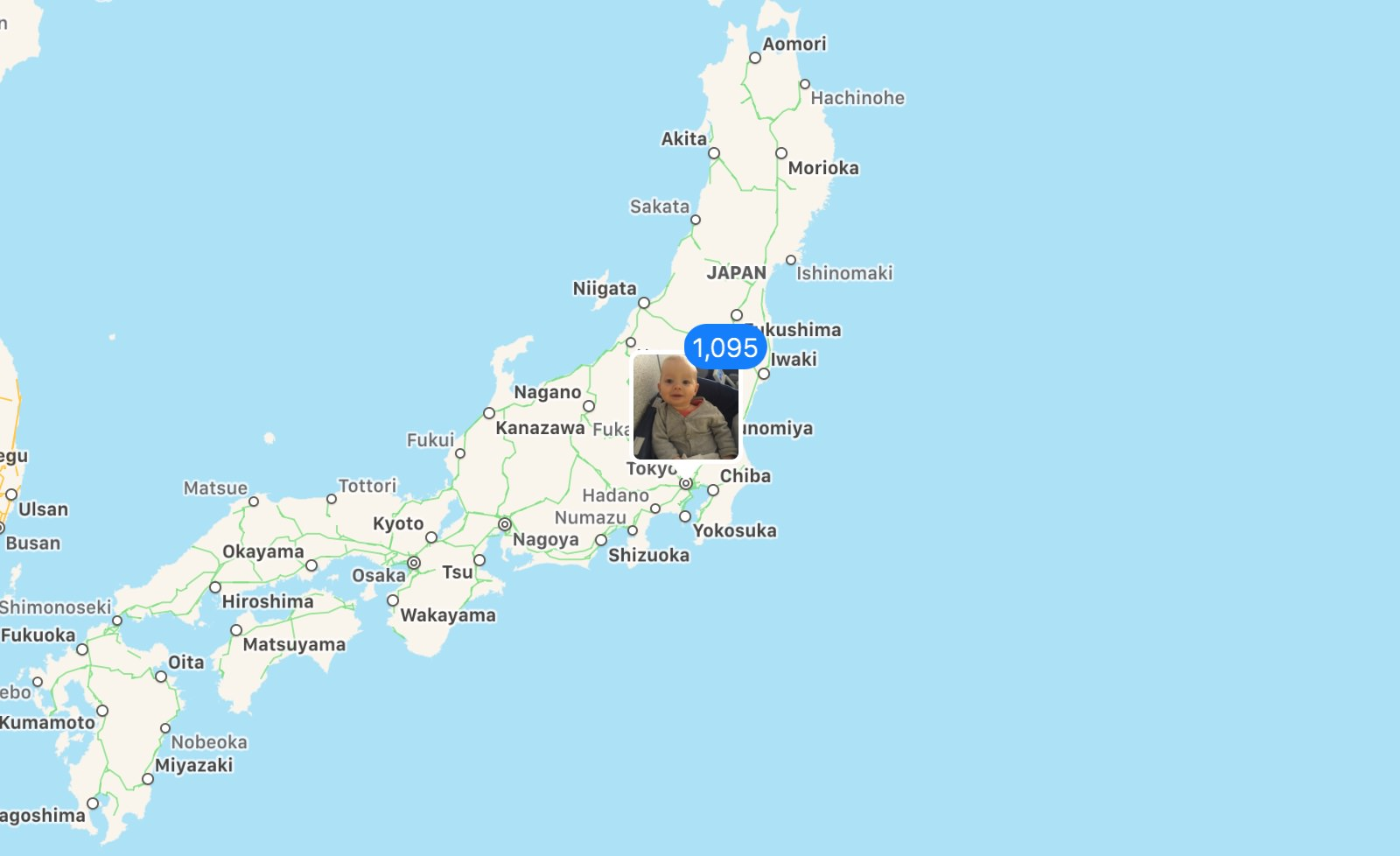 Photos on the Places map of Japan