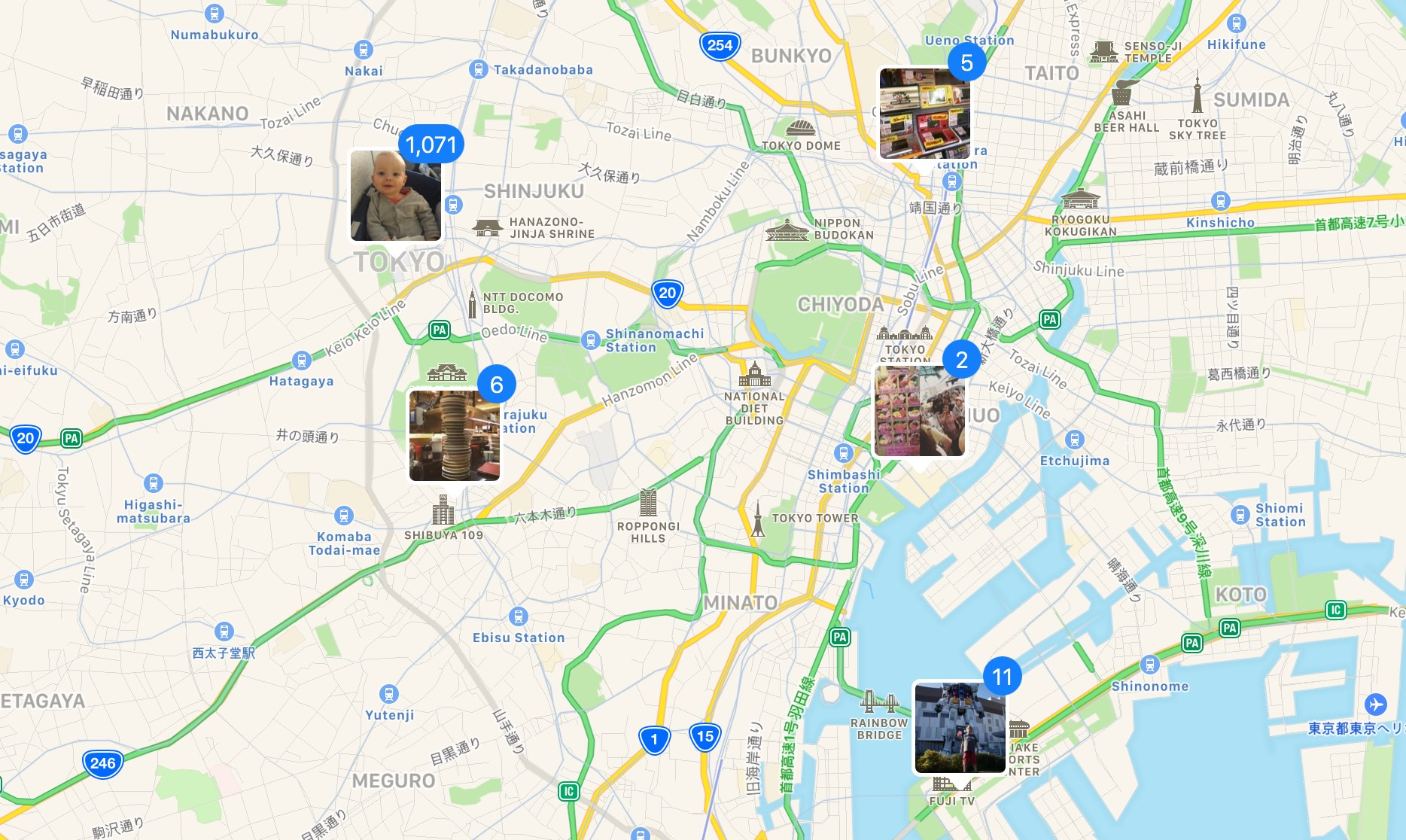 Photos on the Places map of Tokyo