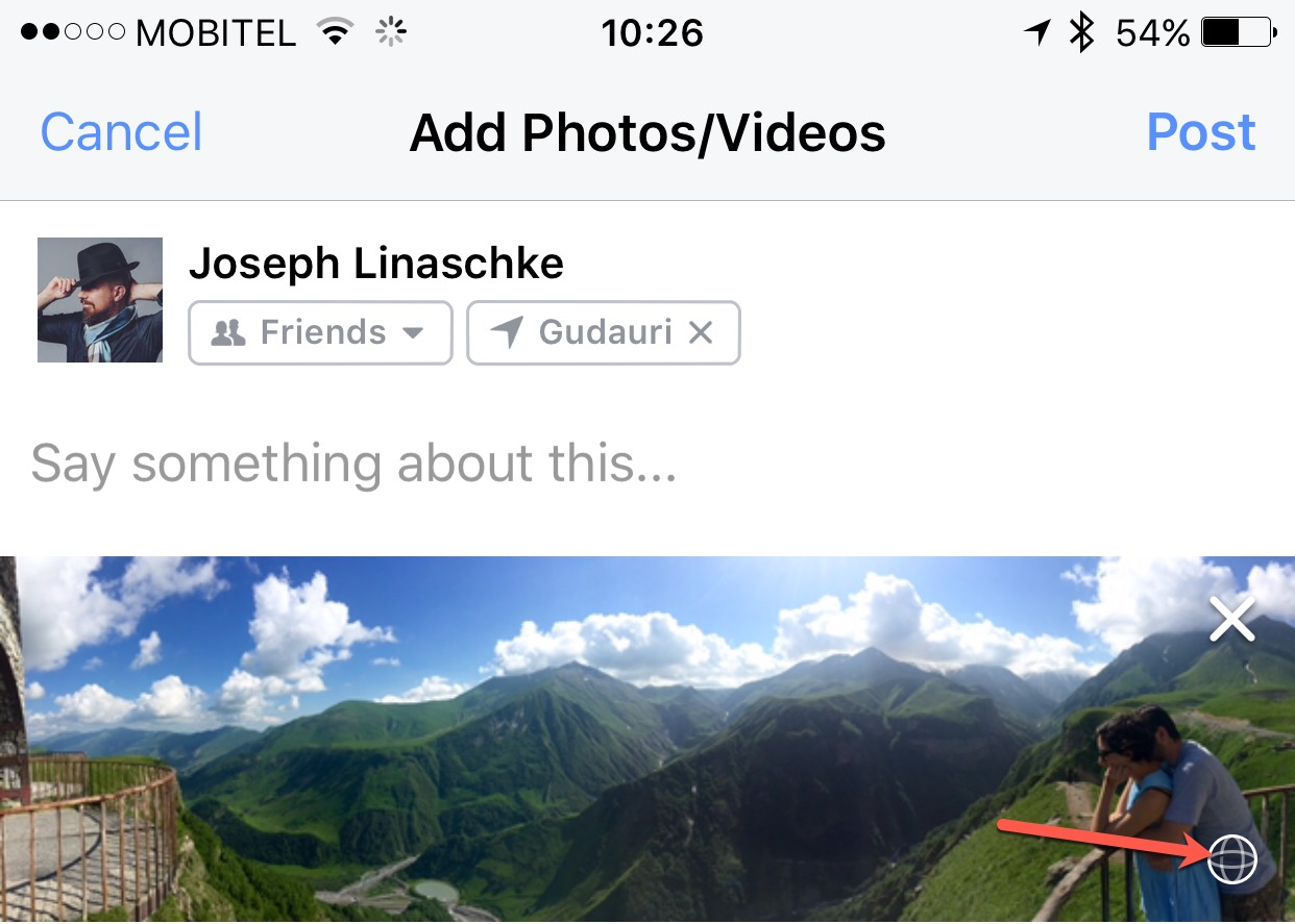 Hacking Full-size Camera Panoramas to Work in Facebook | PhotoApps