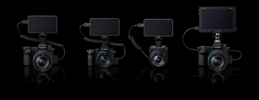 side by side images of four Lumix cameras