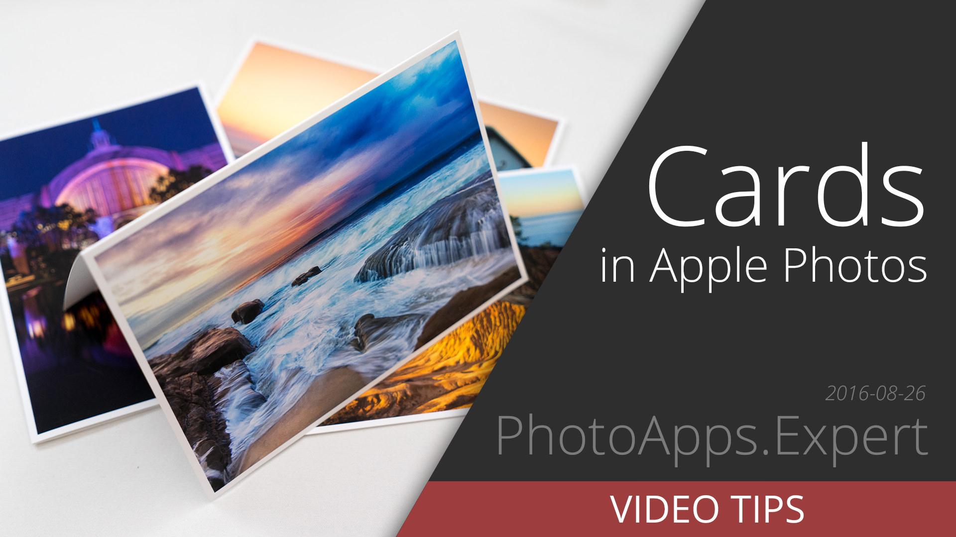 Printing Your Own Greetings Cards Using Apple Photos Photojoseph