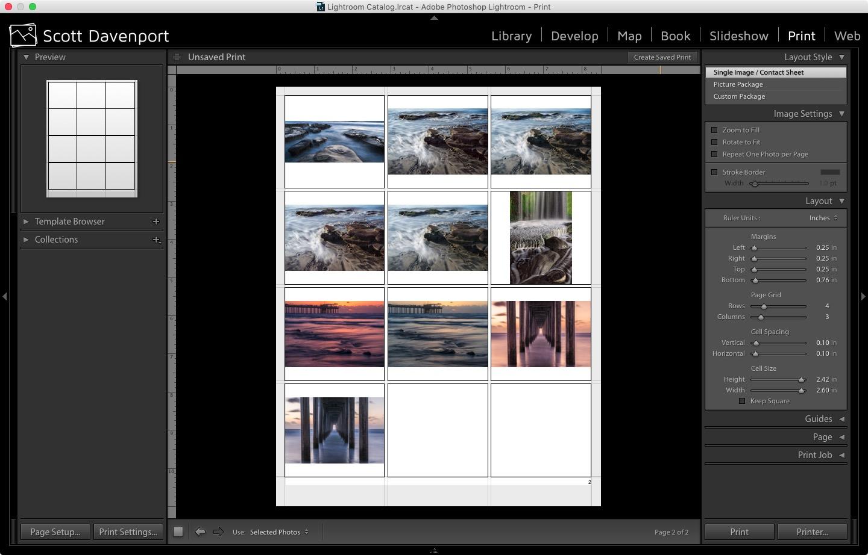 Create A Contact Sheet In Lightroom Photojosephcom